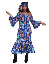 Load image into Gallery viewer, Mermaid African Print Dress 2262 - Advance Apparels Inc