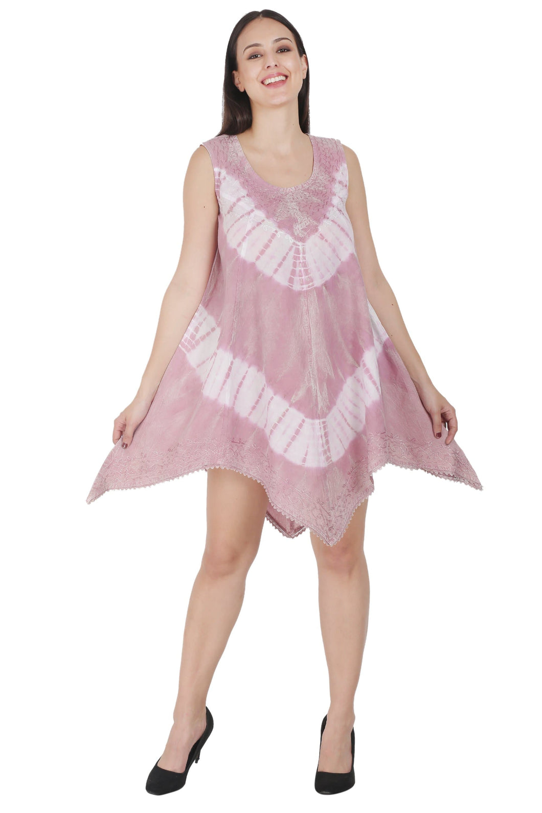 Organic Tie Dye Tencel Umbrella Dress