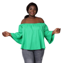 Load image into Gallery viewer, Solid Color Off Shoulder Ankara Blouse (9 Colors) 466