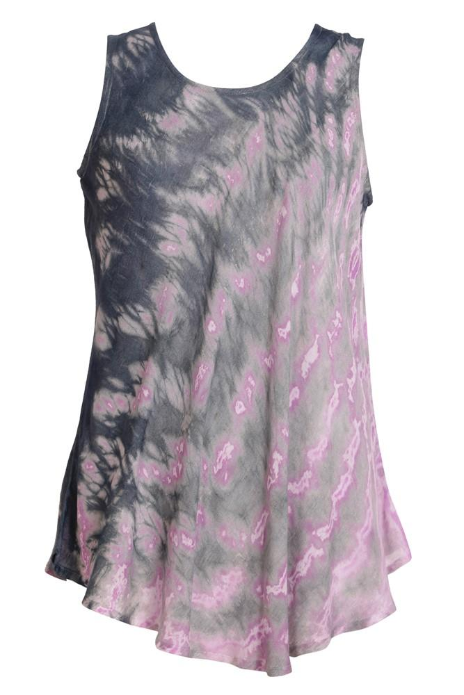 Tie Dye Scooped Neck Tank Top 18806