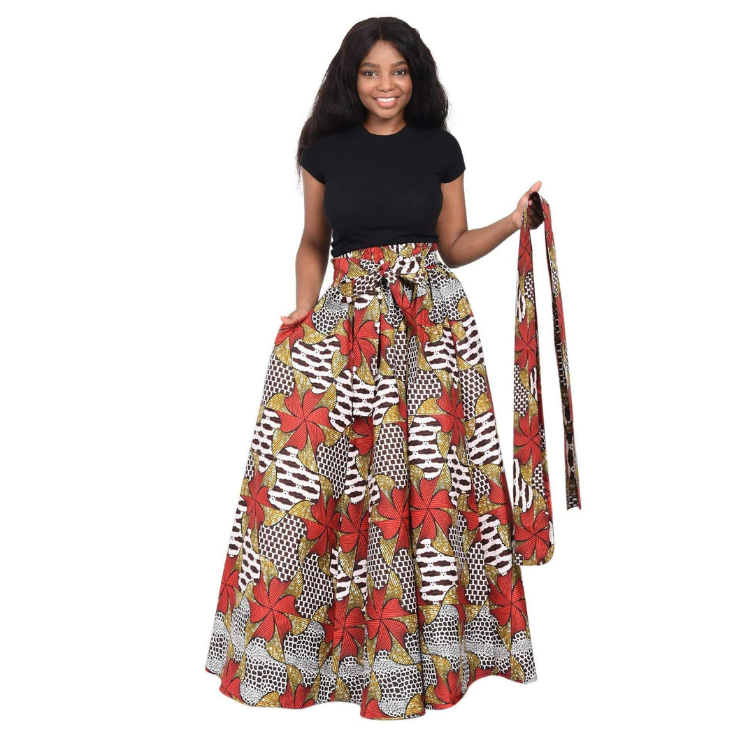 Long African Print Maxi Skirt 19417 - Advance Apparels Inc