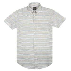 Horizontal Striped Linen Shirt