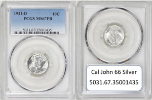 1941-D Mercury Dime PCGS MS67FB 5031.67.35001435