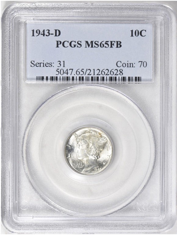 1943-D Mercury Dime PCGS MS65FB 5047.65.21262628