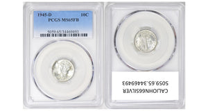 1945-D Mercury Dime PCGS MS65FB 5059.65.34469493