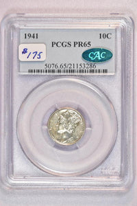 1941 Mercury Dime Proof PCGS PR65 5076.65.21153286