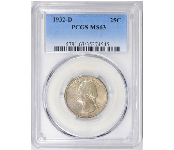 1932-D Washington Quarter PCGS MS63 5791.63.35374545