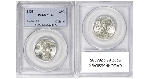 1935 Washington Quarter PCGS MS65 5797.65.2768885