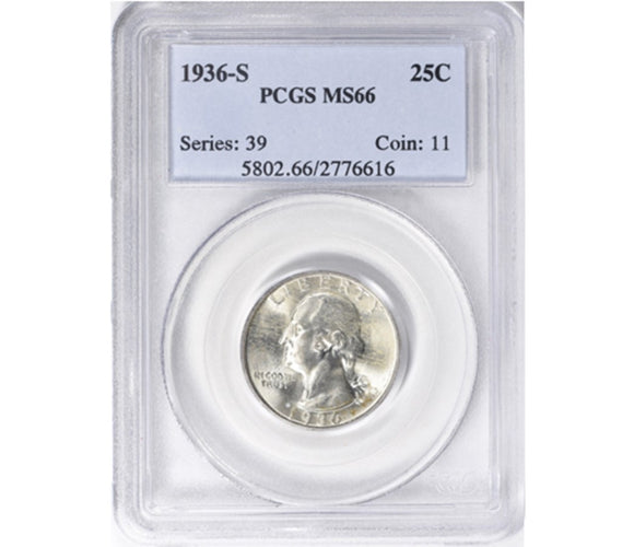 1936-S Washington Quarter PCGS MS66 5802.66.2776616