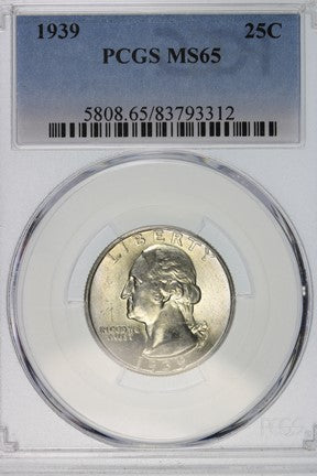 1939 Washington Quarter PCGS MS65 5808.65.83793312
