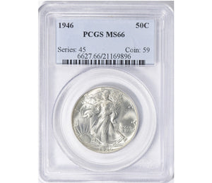 1946 Walking Liberty Half Dollar PCGS MS66 6627.66.21169896