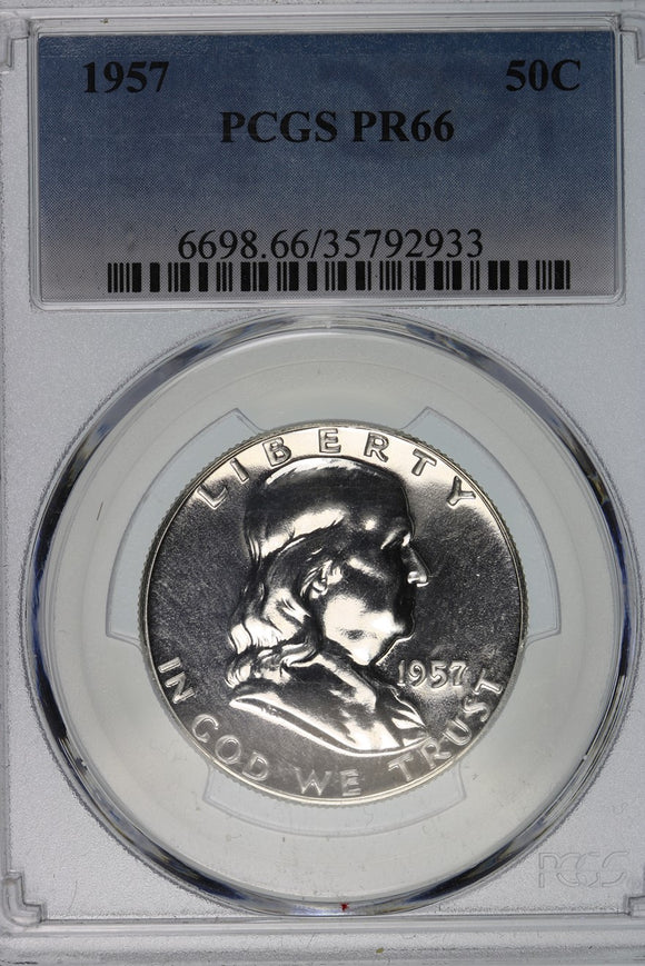 1957 Franklin Half Dollar Proof PCGS PR66 6698.66.35792933