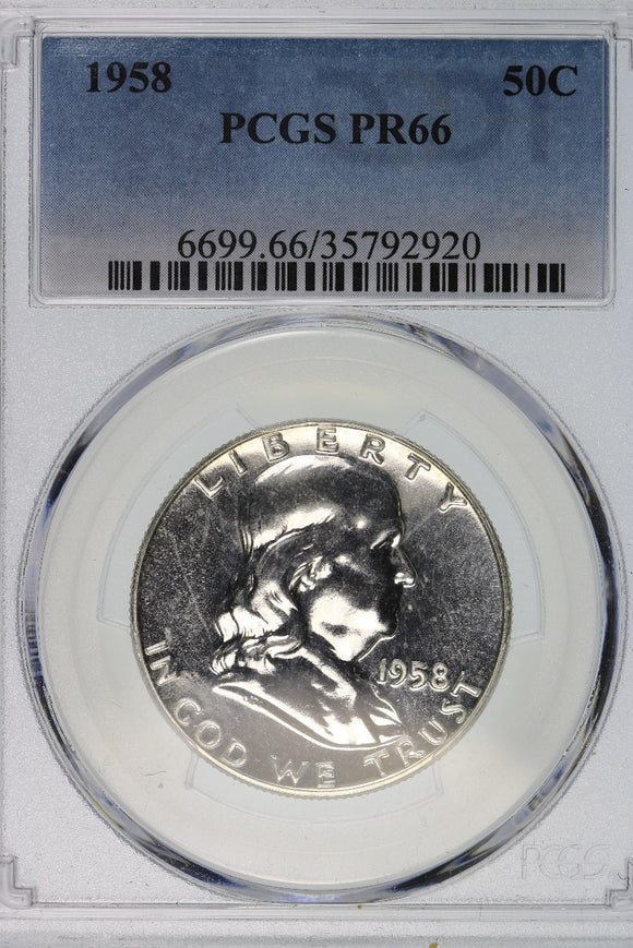 1958 Franklin Half Dollar Proof PCGS PR66 6699.66.35792920