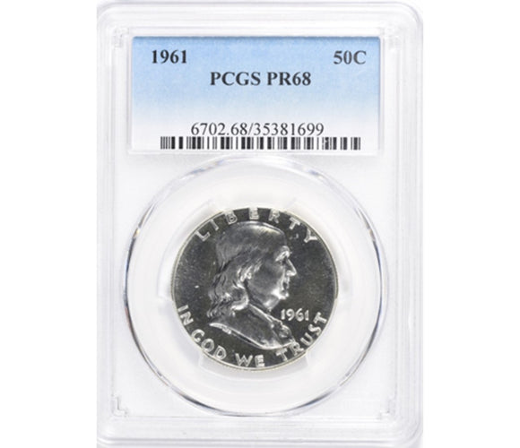 1961 Franklin Half Dollar Proof PCGS PR68 6702.68.35381699