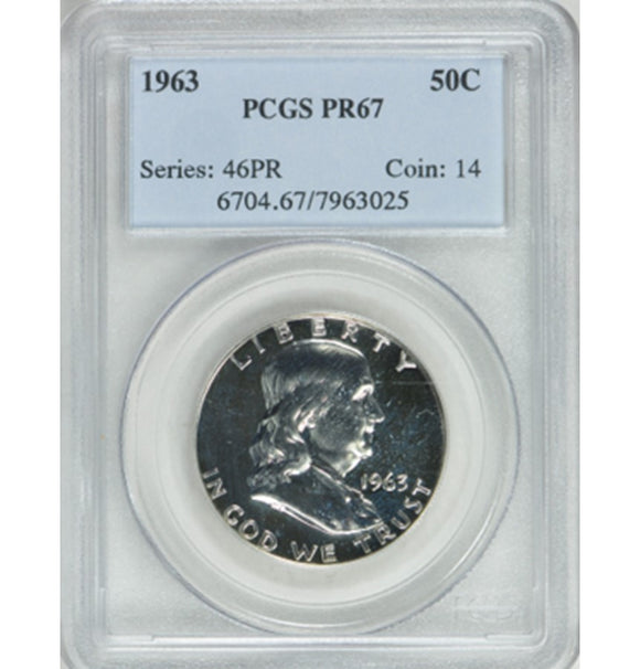 1963 Franklin Half Dollar Proof PCGS PR67 6704.67.7963025