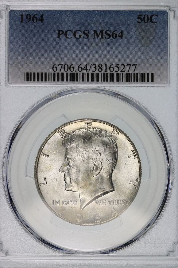 1964 Kennedy Half Dollar PCGS MS64 6706.64.38165277
