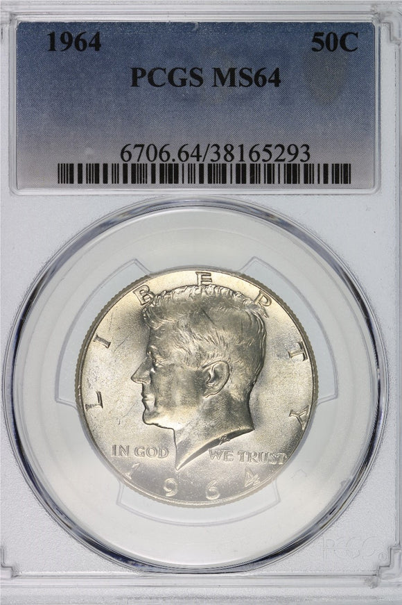 1964 Kennedy Half Dollar PCGS MS64 6706.64.38165293