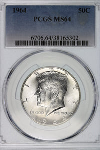 1964 Kennedy Half Dollar PCGS MS64 6706.64.38165302