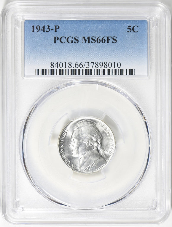 1943-P Jefferson Nickel PCGS MS66FS 84018.66.37898010