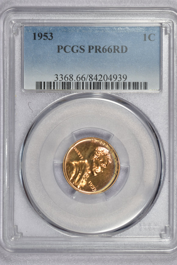 1953 Lincoln Cent Proof PR66RD