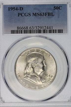 1954-D Franklin Half Dollar PCGS MS63FBL 86668.63.32912441