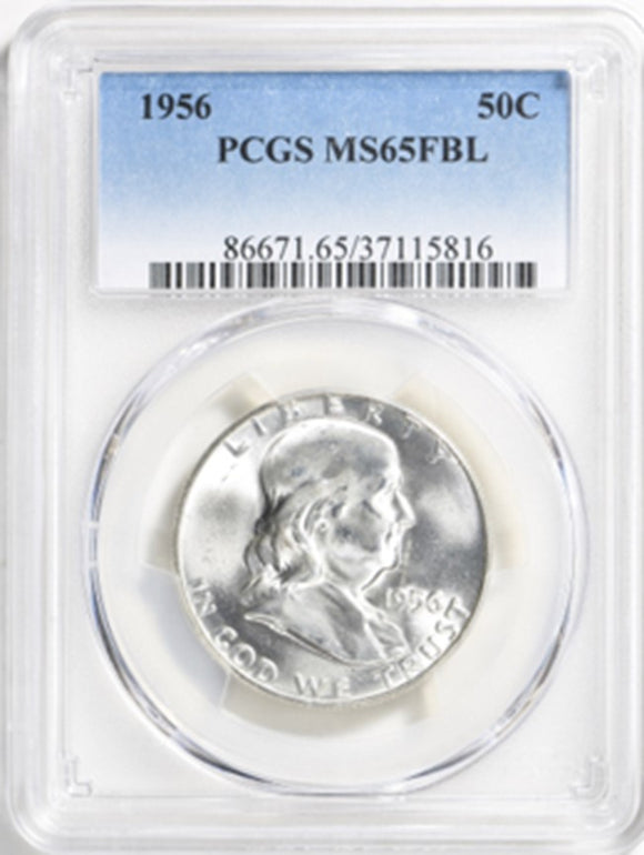 1956 Franklin Half Dollar PCGS MS65FBL 86671.65.37115816