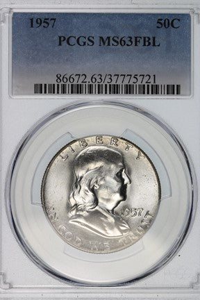 1957 Franklin Half Dollar PCGS MS63FBL 86672.63.37775721