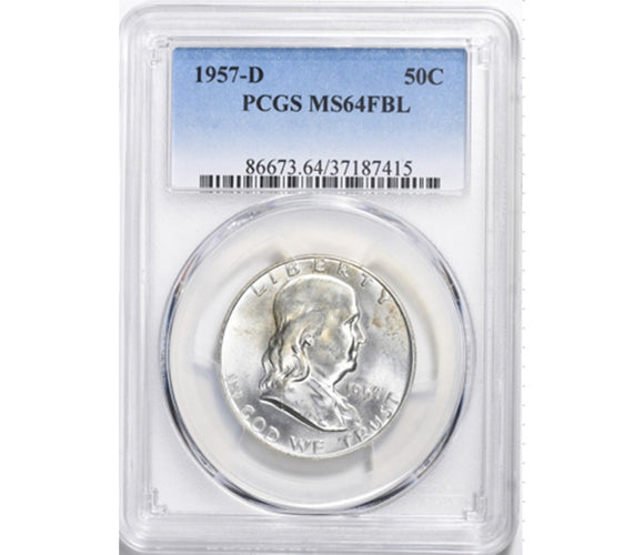 1957-D Franklin Half Dollar PCGS MS64FBL 86673.64.37187415