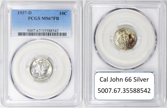 1937-D Mercury Dime PCGS MS67FB 5007.67.35588542