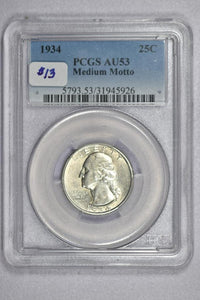 1934 Washington Quarter PCGS AU53 5793.53.31945926