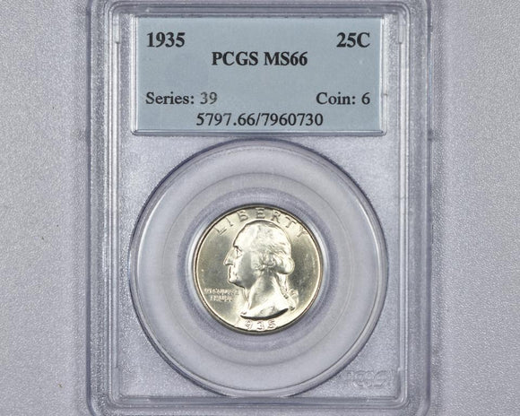 1935 Washington Quarter PCGS MS66 5797.66.7960730