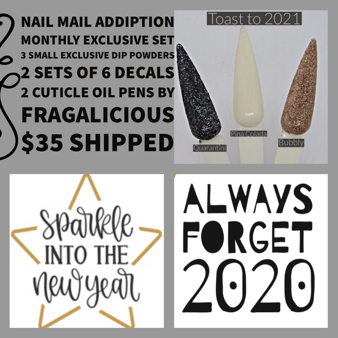 Nail Mail Addiption Monthly Exclusive Set
