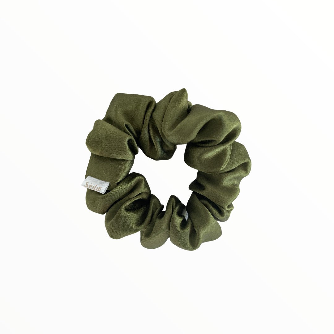 Scrunchie pure soie Eco-luxe Sēda+Co. - Matcha