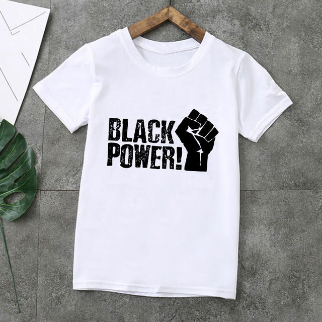 Kids Black Power T-Shirt