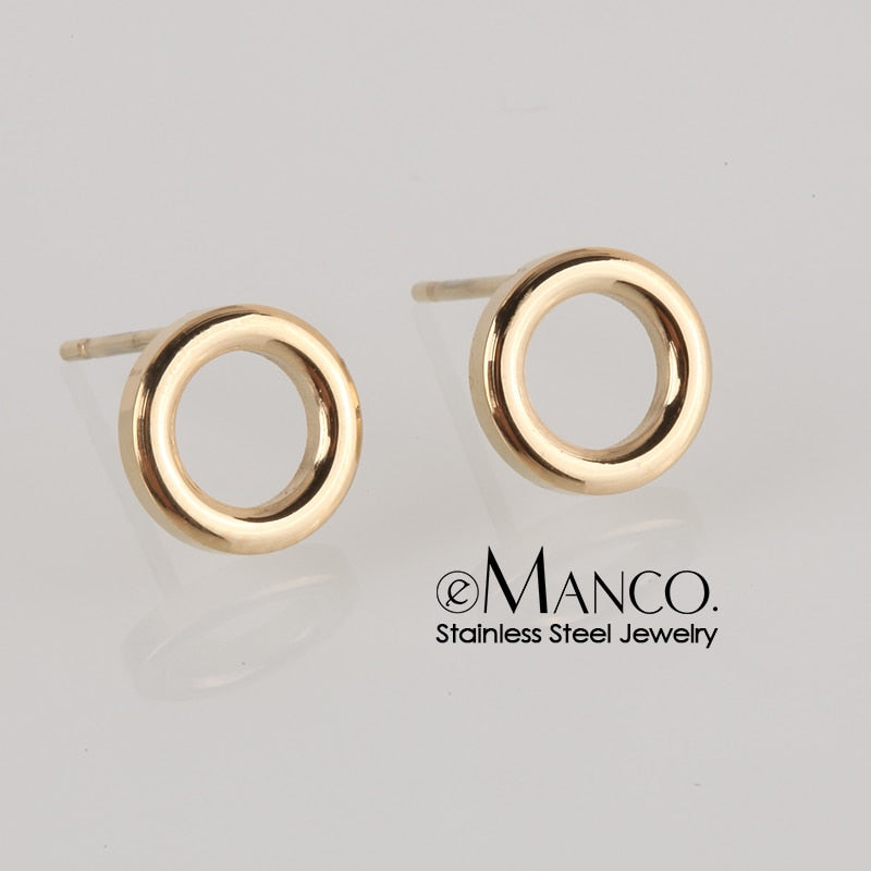 Ladies Small Round Stud Earrings - Giftbuzz.com