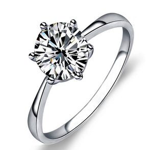 Classical Crystal Wedding Ring for Women - Giftbuzz.com