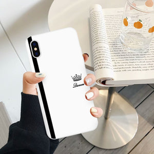 King & Queen Couples Phone Case - Giftbuzz.com