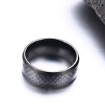 Men's Black Carbon Fibre ring - Giftbuzz.com