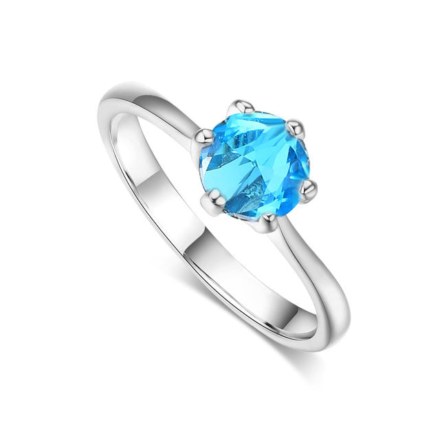 Cubic Zirconia Wedding Ring For Women - Giftbuzz.com