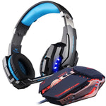 Optical USB Gaming Headset and Mouse - Giftbuzz.com