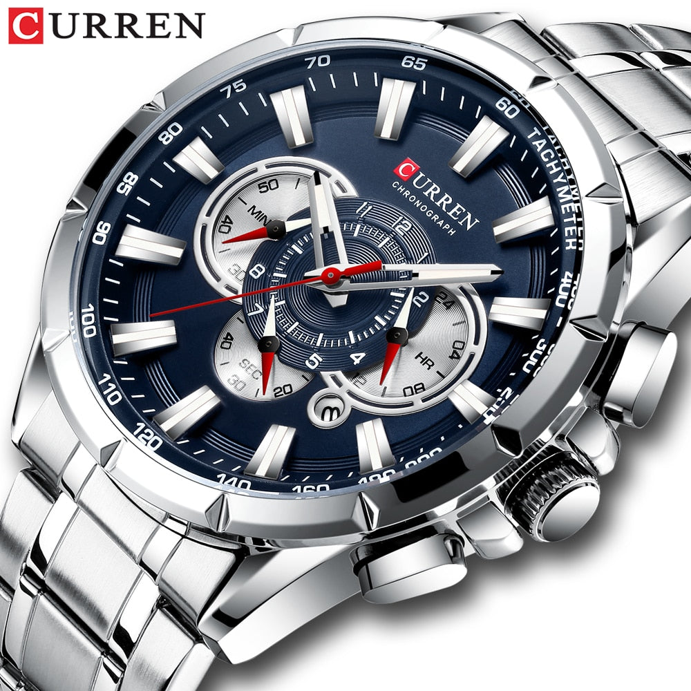 Curren Man Watch Big Sport Male Watch Luxury Military Mens Watches Top Brand Luxury Men's Wristwatch Clock Relogio Masculino