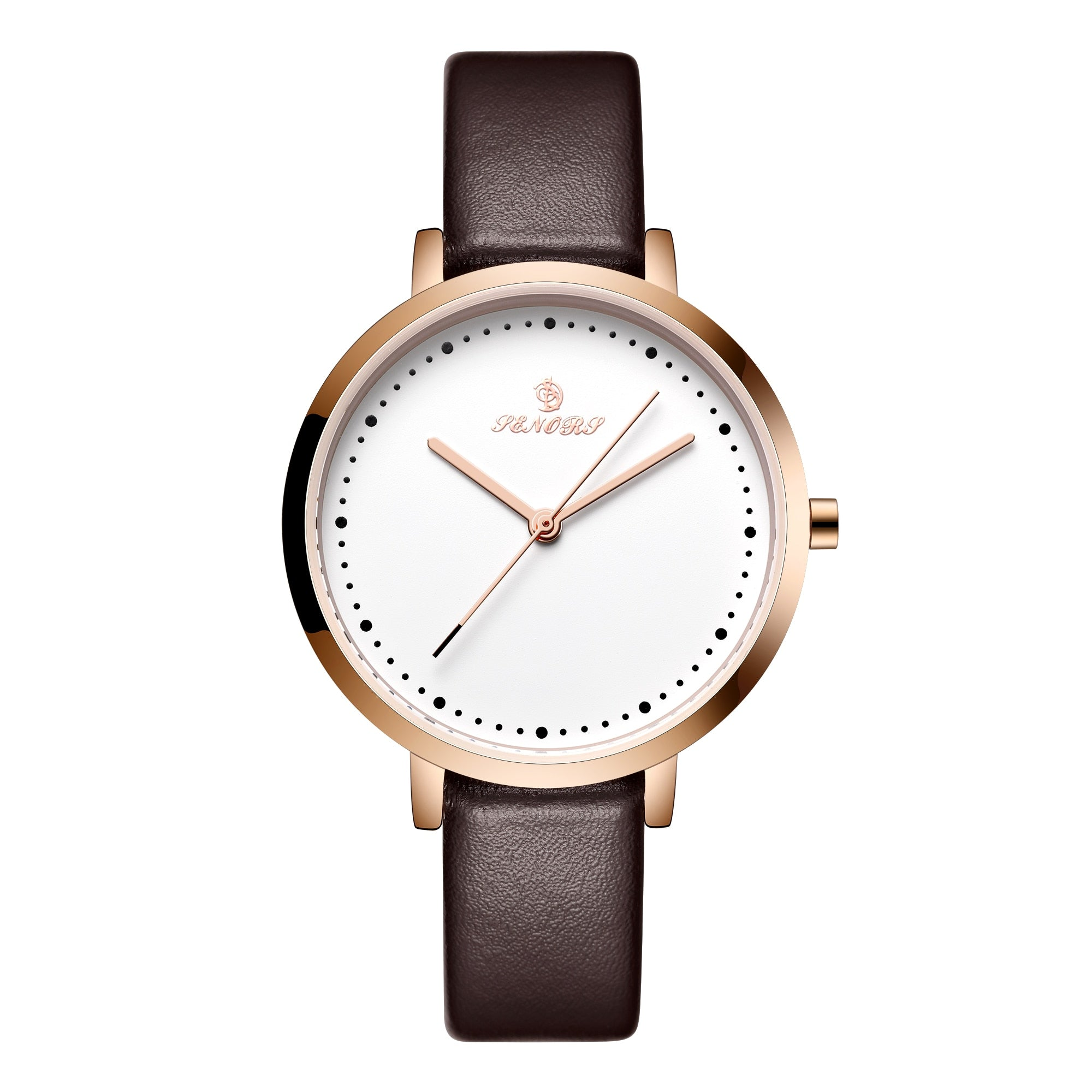 Senors Woman's Watch Fashion Simple Quartz Wristwatches Sport Leather Band Casual Lady Watches Women Reloj Mujer Dress Gift