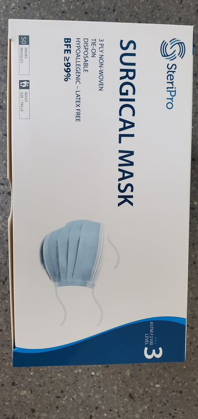Carton of ASTM LEVEL 3 - TIE BACKS - 1000 Masks.