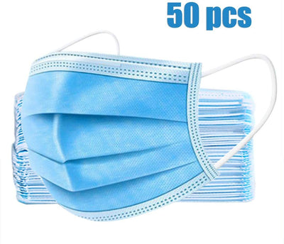 Carton of Non-Medical 3-Ply Masks - 2000 Masks Total - 40 x 50 Masks Per Box (IN STOCK).