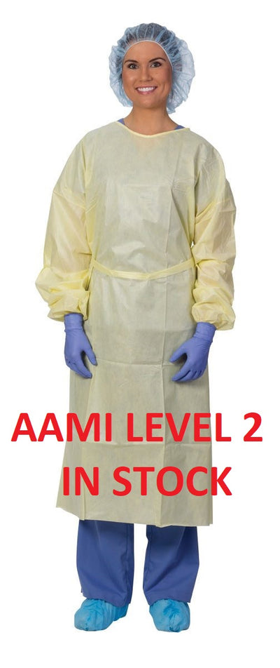 AAMI Level 2 Gowns - Pack of 10 - Individually Packed.
