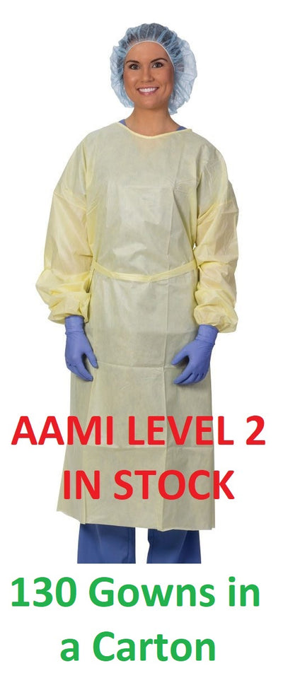 Carton of AAMI Level 2 Gowns - 130 Gowns.