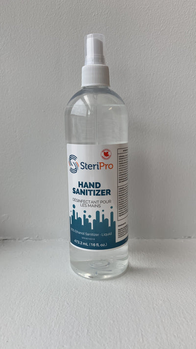 SteriPro Hand Sanitizer Liquid Spray.