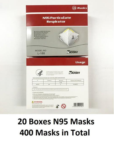 Harley L188 N95 Masks Box of 20 or Carton.