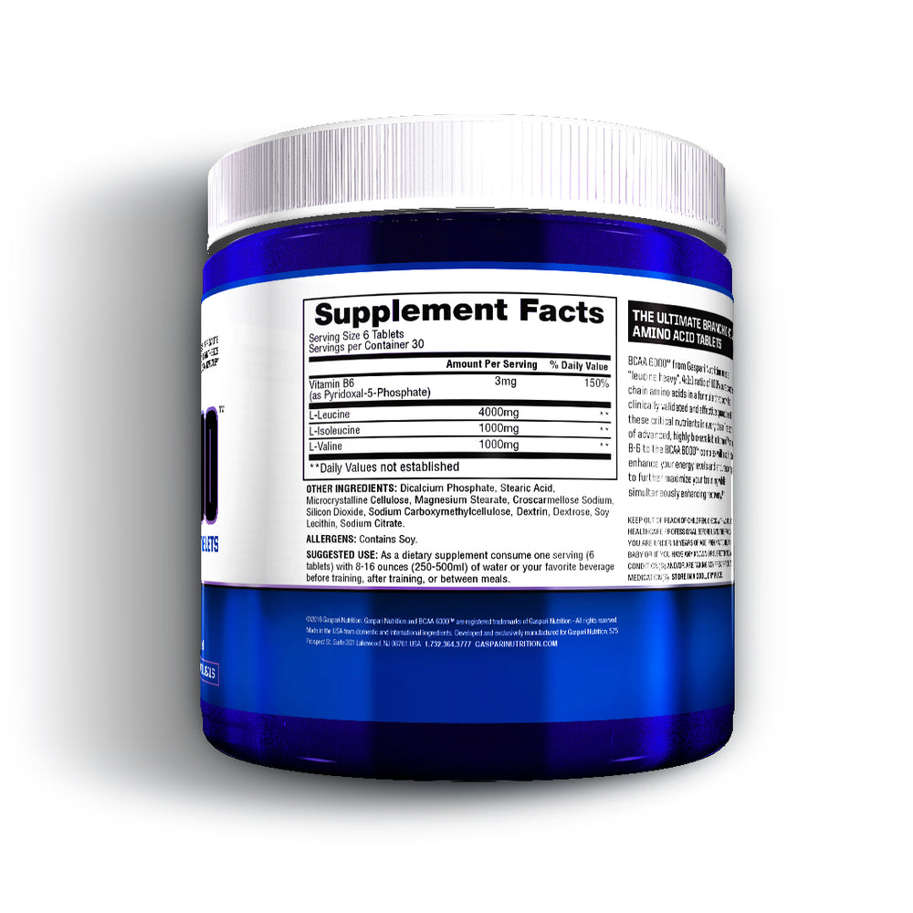 BCAA 6000™ - Tablets - Gaspari Nutrition