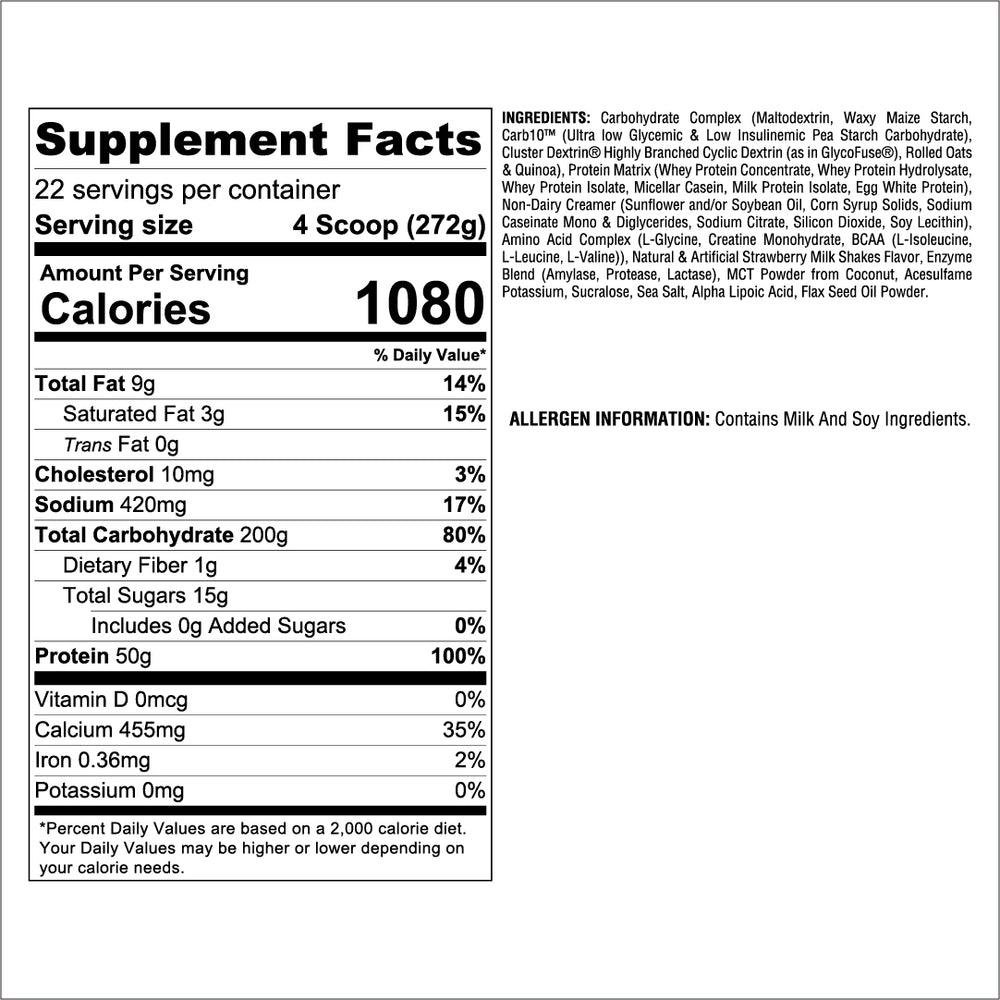 Strawberry Supp Facts